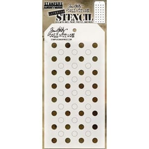 Tim Holtz: Shifter Dots Layered Stencil, 4.125x8.5 inch