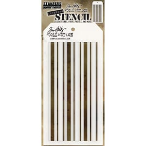 Tim Holtz: Shifter Mint Layered Stencil, 4.125x8.5 inch