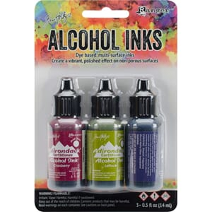 Tim Holtz: Farmers Market-Cranberry/Lettu Alcohol Ink, 3/Pkg