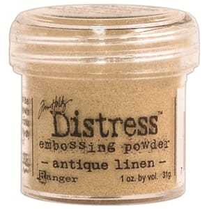 Distress Embossing pulver - Antique Linen