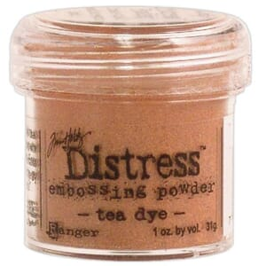 Distress Embossing pulver - Tea Dye