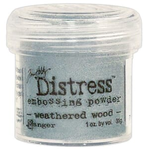Distress Embossing pulver - Weathered Wood