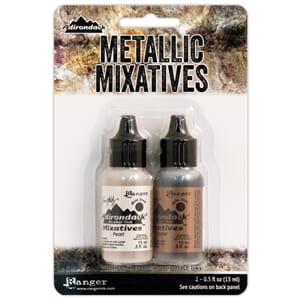 Tim Holtz: Pearl & Copper Alcohol Ink Metallic, 2/Pkg