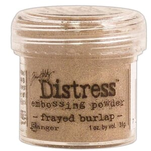 Distress Embossing pulver - Frayed Burlap