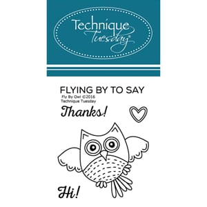 Technique Tuesday: Fly By Owl Clear Stamps