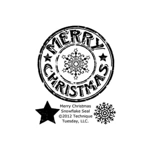 Technique Tuesday: Merry Christmas Snowflake Seal Stamps