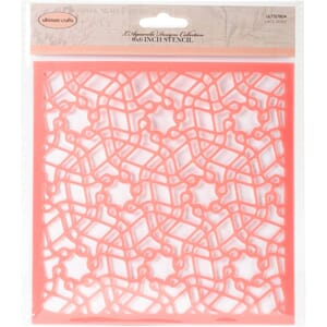 Ultimate Crafts: Lace Doily The Ritz Stencil, 6x6 inch