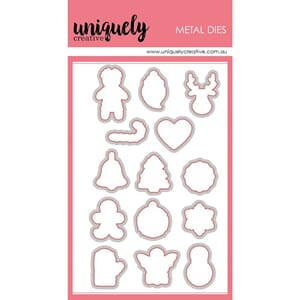 Uniquely Creative: Christmas Cookies Clear Stamps 15/Pkg