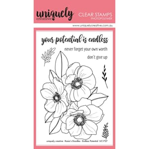 Uniquely Creative:Endless Potential Bloom Clear Stamps 15/Pk