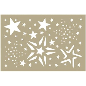 Couture Creations Merry Stars Assortment Be Merry Stencil4x6