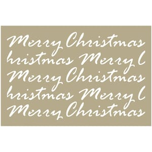 Couture Creations Merry Christmas Script Be Merry Stencil4x6