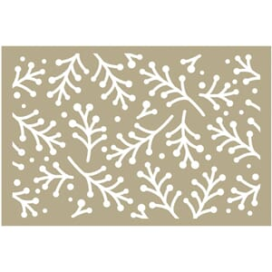 Couture Creations Holly Berry Sprigs Be Merry Stencil 4x6 in
