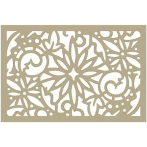 Couture Creations Christmas Damask Be Merry Stencil 4x6 inch