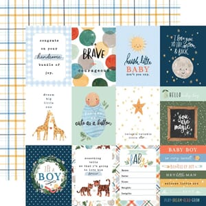 Echo Park: 3x4 Journaling Cards - Welcome Baby Boy