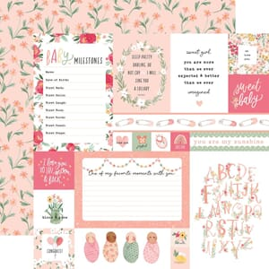 Echo Park: Multi Journaling Cards - Welcome Baby Girl