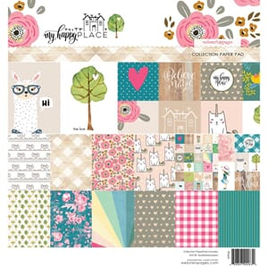 Webster's Pages: My Happy Place Paper Pa, 8x8, 24/Pkg