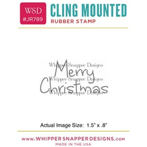 Whipper Snapper: Mini Merry Christmas Cling Stamp