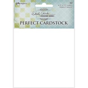 Wendy Vecchi: White Cards Perfect Cardstock 4.25xX5.5in, 10/