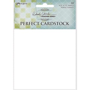 Wendy Vecchi: White Panels Perfect Cardstock 4.25xX5.5in, 10